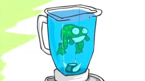 Frog in a Blender - Joe Cartoon